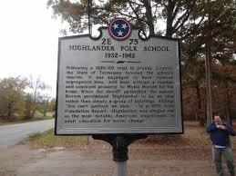 Highlander Folk School Center - Historic Marker Back