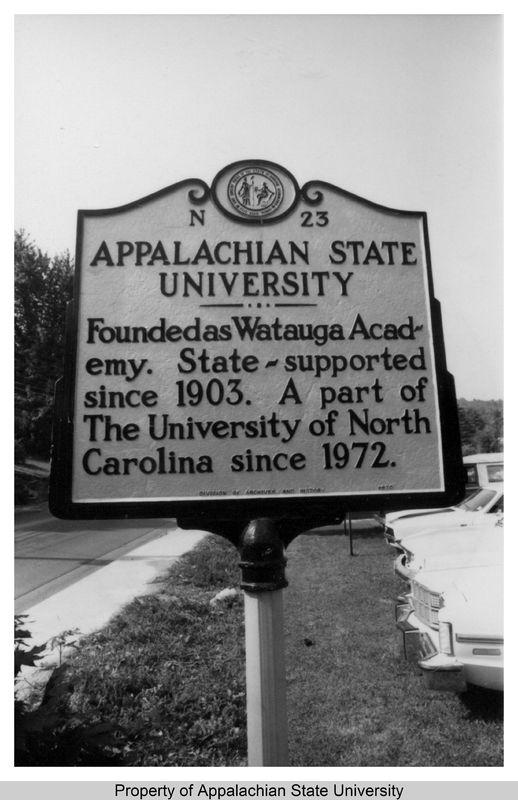 Historic Marker, Appalachian State University, 1978