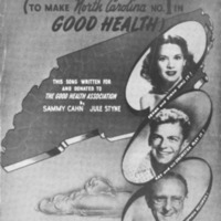 Vinyl record promoting the Good Health Campaign  of the 1940s