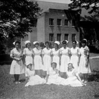 Students at St. Agnes Hospital Nursing School